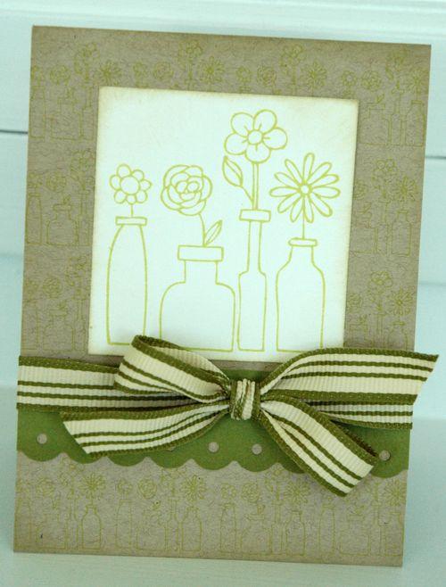 Bella Flowers Blank Card